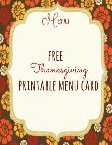 Thanksgiving Menu Template Free by Free Thanksgiving Printables Frugal Fanatic