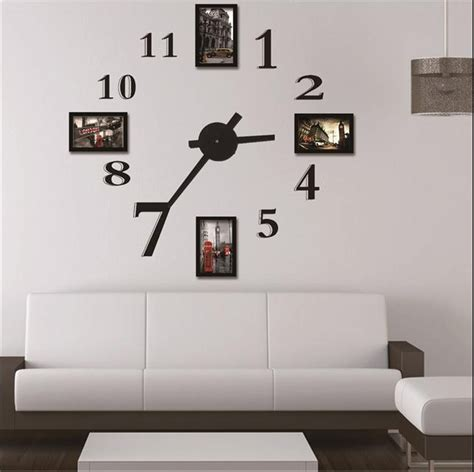 decorative digital wall clock photo frame wall clock modern design large digital