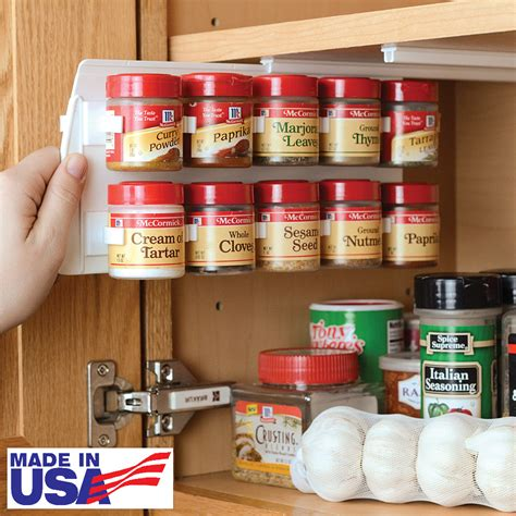 Spice Rack For Small Kitchen New Clip Spice Storage Rack Holds Up To 20 Small Sized