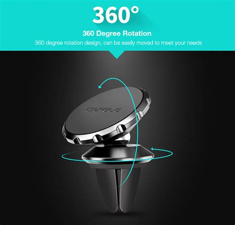 Floveme 360 Rotation Magnetic Car Phone Air Vent For Smartphone cafele 360 degree rotation magnetic suction bracket phone