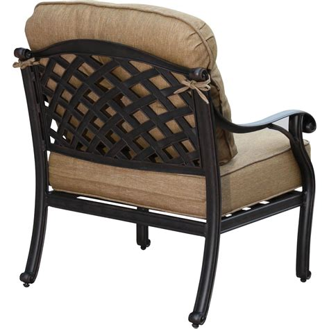 Darlee Nassau Cast Aluminum Deep Seating Patio Lounge Lounge Chair Patio