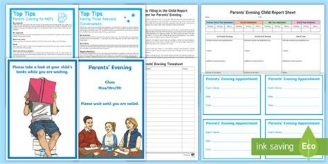parent meeting report template parents evening resource pack parent meeting