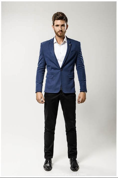 Casual In Navy Blue navy blue casual suit dress yy