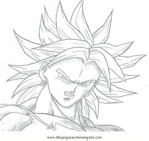 imagenes de broly para dibujar a lapiz dibujos dragonball broly 03