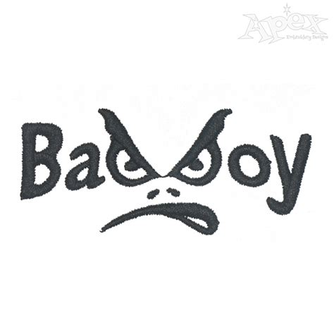 boys bad design bad boy embroidery design