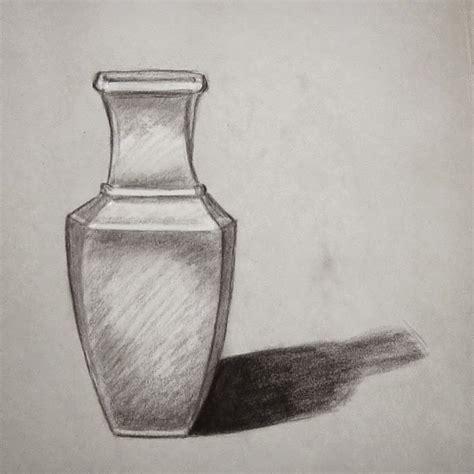 sketsa vas bunga gambar pemandangan