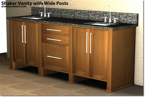 Barkers Cabinets by Shaker Vanity With Wide Posts