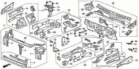 honda crv parts diagram honda oem parts front bulkhead for 1999 honda cr v for