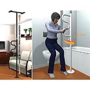 security pole curve grab bar bathroom safety restroom