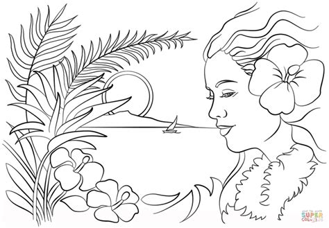 printable pictures of hawaiian flowers coloring pages luau coloring pages printable hawaiian