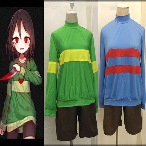 Sweater Undertale Hitam Zem Clothing undertale protagonist frisk chara hoodie sweater shorts costume ebay