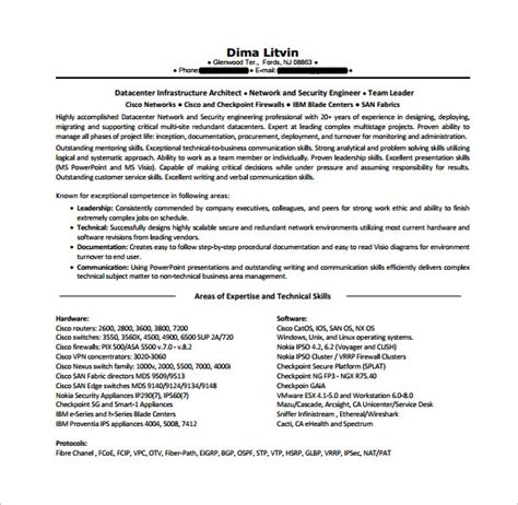 senior cisco network engineer exle resume network engineer resume template 9 free word excel pdf psd format free