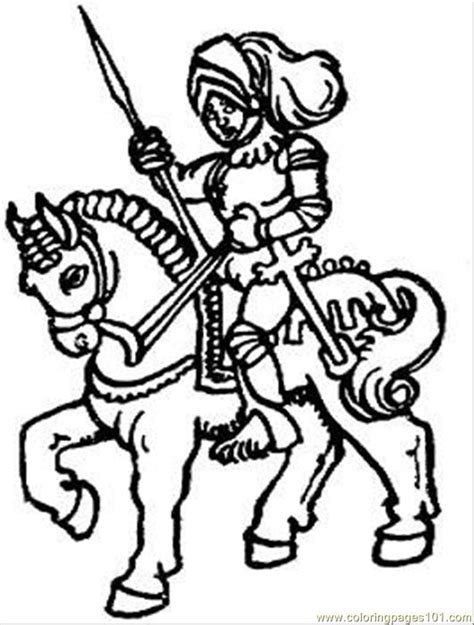 printable pictures knight on horseback knight riding horse coloring page