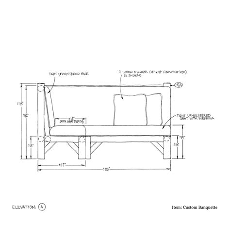 Banquette Size by Dimensions Of Banquette Seating Studio Design