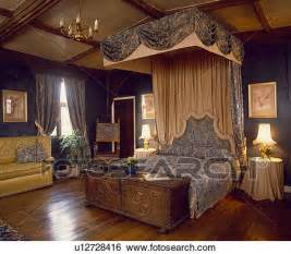 Bedroom Half Carpet Half Wood Stock Images Of Large Country Bedroom With Polished Wood