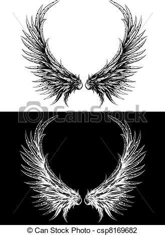 imagenes vectoriales alas ilustraciones de vectores de hecho silueta como dibujo
