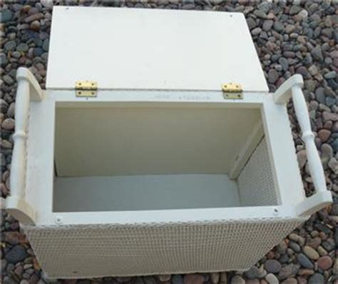bench laundry her white wicker hamper bench vintage romantic vanity stool 4