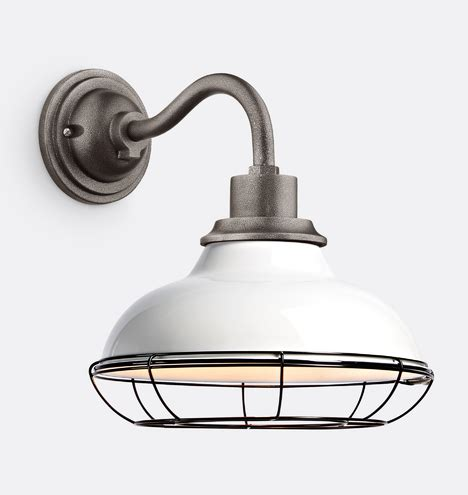 carson  wall sconce  cage gloss white rejuvenation