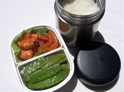 nissan food jar shrimp and snow peas lunch flickr photo