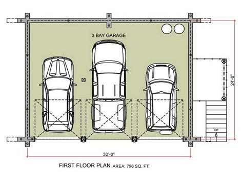 Garage Floor Plans Free | free garage plans first floor design stroovi