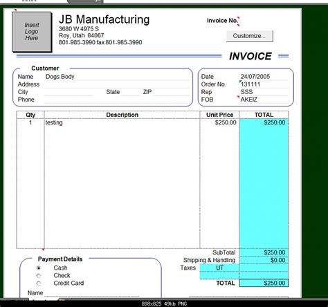 make invoice template
