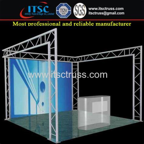 aluminium booth manufacturers aluminum small exhibition display booth truss rigging