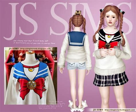 Top 10 Home Decor Websites by Js Sims 4 Sailor Moon Sweater Sims 4 Downloads
