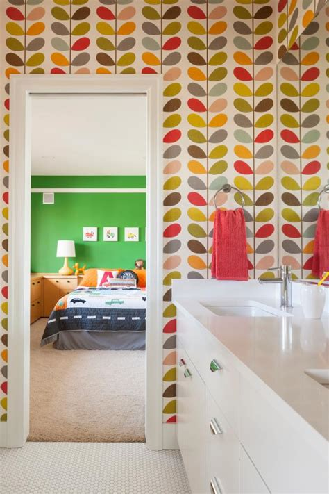 colorful wallpaper for bathroom photo page hgtv