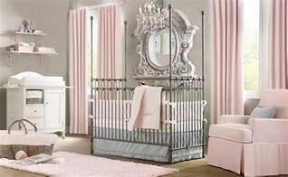 interior design pink white gray baby room