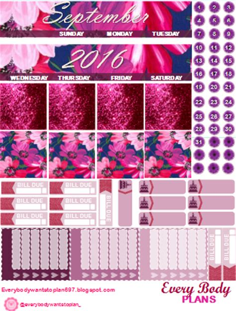 5 Gratis 1miranda The Every Wants every wants to plan september monthly kits