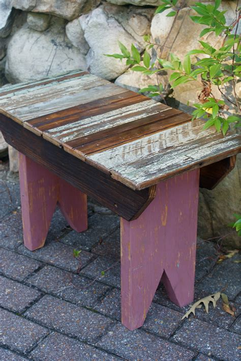 outdoor small bench reclaimed bead board small wooden bench outdoor furniture home