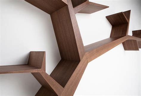 library tree branch bookshelf by olivier dolle redesign
