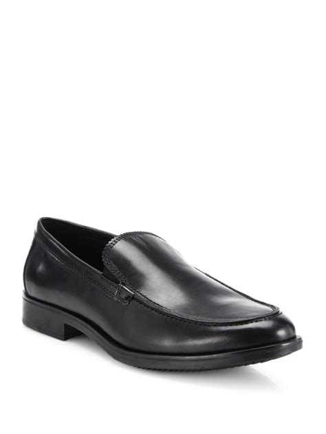mens coach loafers coach claremont leather venetian loafers in black for