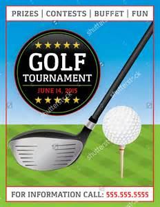 golf flyer template free golf tournament flyer template 20 in vector