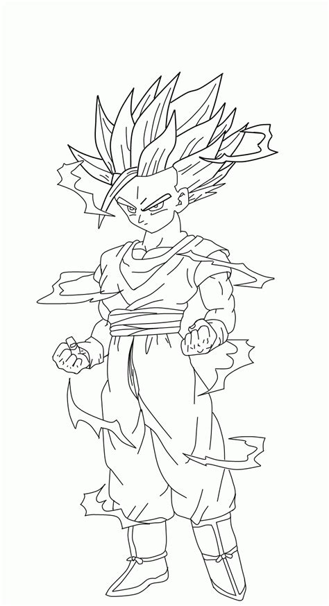 Dbz Coloring Pages Gohan   Coloring Home