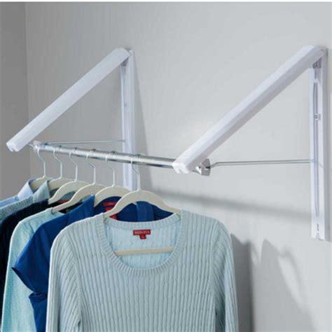 Wall Mounted Cloth Rack by Quikcloset Wall Mounted Garment Rack Portable Closet