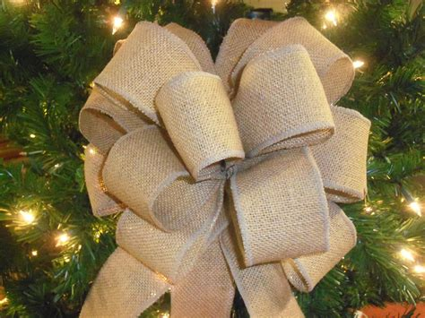 large burlap bow wedding bows burlap christmas tree