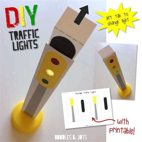 Traffic Light Craft Enhance Your Toy Car Play With This Light Craft