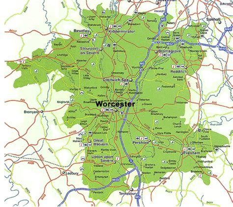 Amazing What Is Mormon Church #8: Worcestershire_map_detailed.png