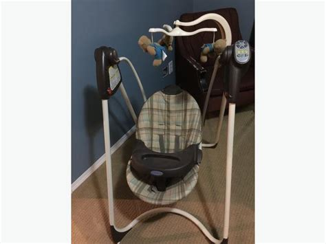 used graco swing graco baby swing with teddy bear mobile north regina regina