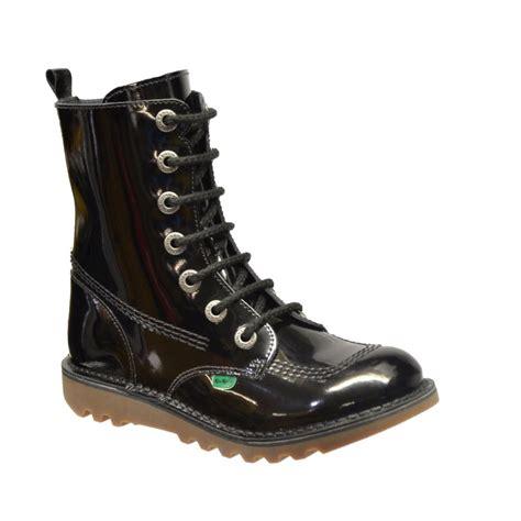 Kickers Boots kickers kickers kick so hi mf patent black f11