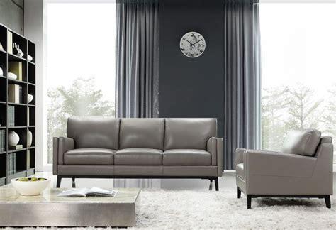 gray leather living room set osman grey top grain leather living room set 35203m