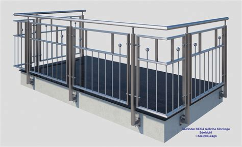 edelstahl balkon franz 246 sischer balkon edelstahl md04a design shop baalcke