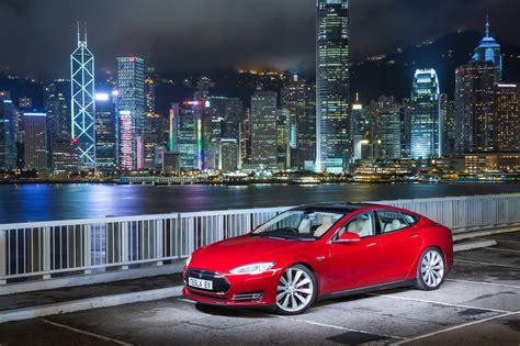 right drive tesla model s arrives in hong kong