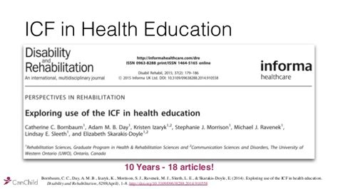 themes in medical education the icf themes and tools for health education