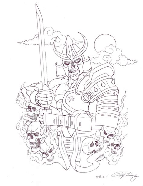 skull samurai by zell381 on deviantart