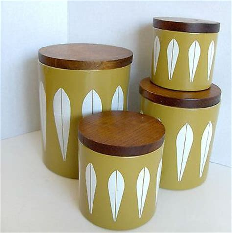 mid century modern retro yellow kitchen canister set by 372 best tea tins images on pinterest vintage tins
