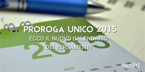 versamenti in proroga unico 2015 ecco il nuovo calendario dei