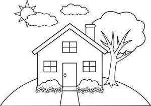 Home Draw Colorings Line Art House Drawing