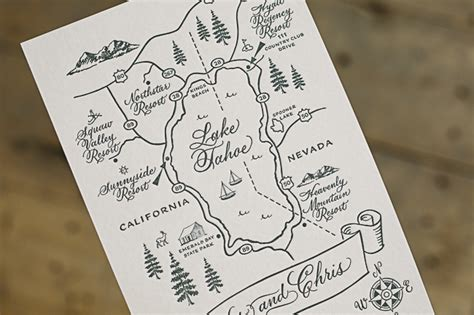 Wedding Invitation Map by Custom Rustic Wedding Invitations From Smock